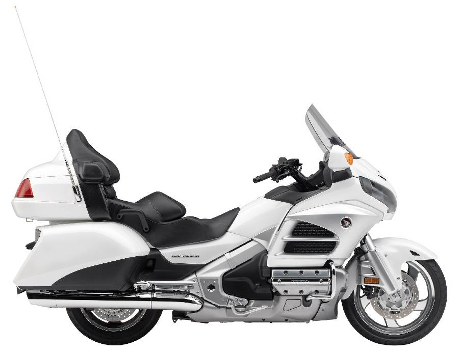 2012 Honda Gold Wing in profile, white