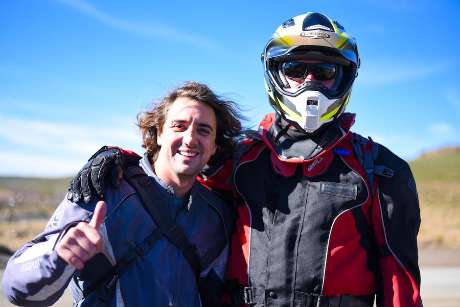 Bike Routes crew members Willem van der Berg and Justus Visagie