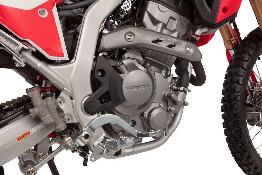 The engine of the Honda CRF 300 L and Rally