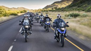 Members of the media on the new 1200GS
