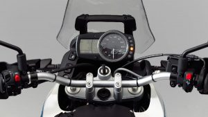 Close-up of instruments of BMW G 650 GS Sertao