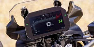 The instrument display of the F850GS