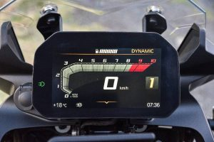 The digital instrument screen of the BMW F 850 GS