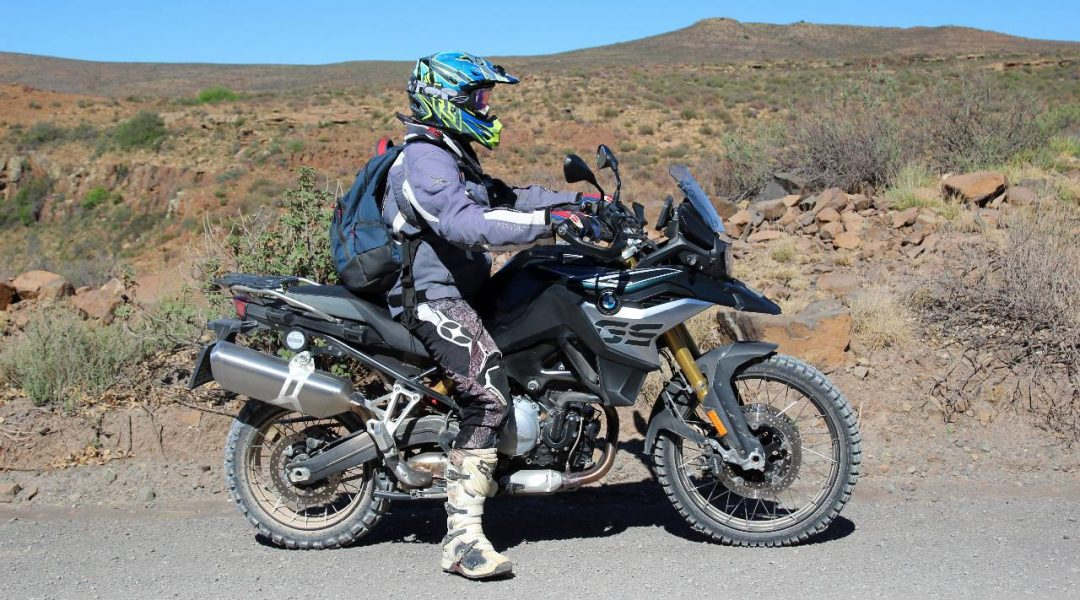 A linked image of a rider on his BMW GS