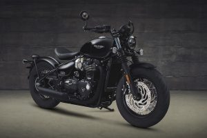 The Bobber Black from a front angle