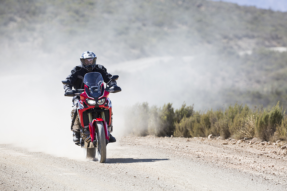 Carl Kritzinger on the Honda CRF 1000 L, devouring dirt roads