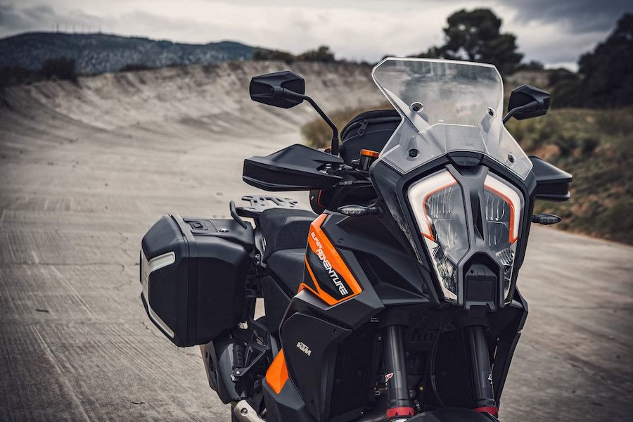 The face of the KTM 1290 Super Adventure S