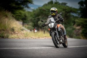 Uzair Abdul-Karrim rides the KTM 390 Adventure on tar.