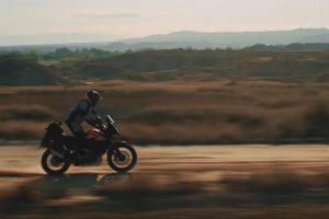The 390 Adventure riding - in profile
