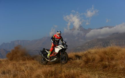A lone rider in the beautiful Drakensberg area