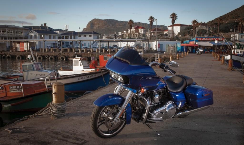 Harley-Davidson Road Glide Special at Kalk Bay harbour
