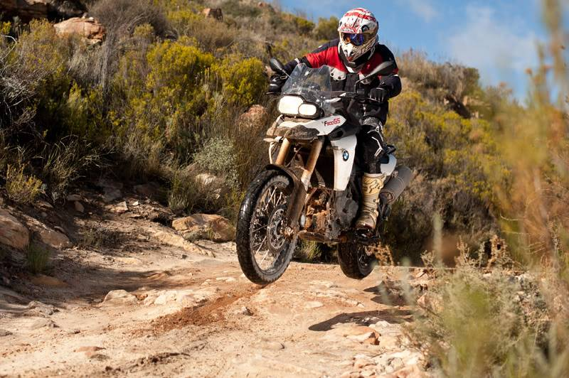 A BMW F800GS coming up for air