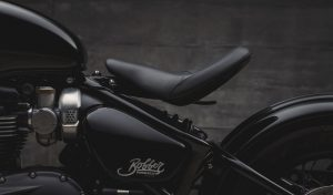 The plough seat of the Bobber Black