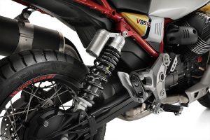 Rear suspension of the V85 TT
