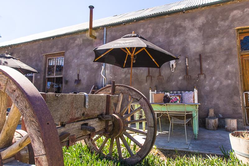 A rickety wagon in Nieu-Bethesda