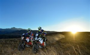 Two KTM riders