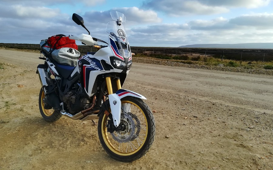 A Honda CRF1000L DCT on a gravel road