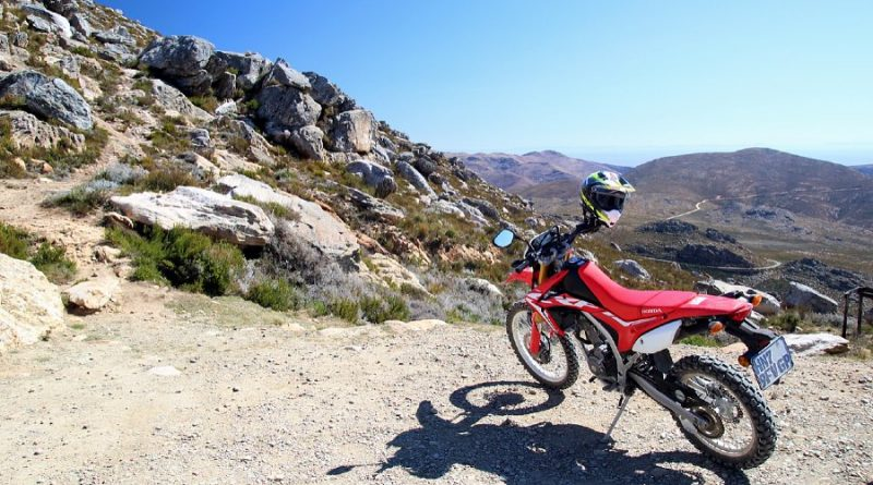 Honda CRF250 on top of Swartberg pass
